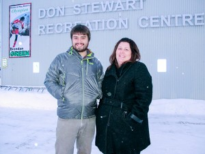 Diana Yeager/NNSL photo Program librarian Craig Edwards, left, of NWT Centennial Library and Dale Loutit, the recreation programmer with the Town of Hay River, have been working with other groups to put together a day of activities to celebrate our coldest season.