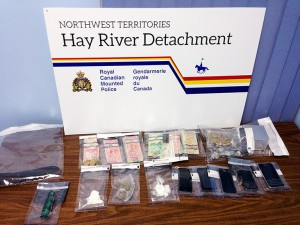 Cocaine and marijuana seizure by RCMP from residence in West Channel Jan. 20, 2016 Hay River Photo courtesy of Hay River RCMP