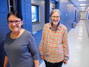 Marjorie Whiting, left Betty Mudry, right, are part of the Walkie Talkie team in this year's Walk to Tuk challenge. Photo by Diana Yeager Northern News Services Ltd.