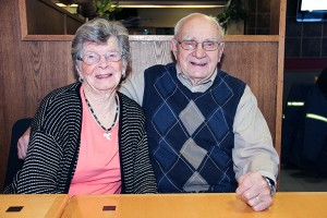 Sarah Gaetz, left, and Ken Gaetz. Ken is the founder of Pentecostal Church in Hay River, and the first administrator of the hospital. Photo by Paul Bickford Northern News Services Ltd.