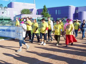 photo courtesy of Nikki Grobbecker Participants take part in a previous Relay for Life in Hay River. The relay has not been held since 2012 but plans are in motion to bring it back to the community.