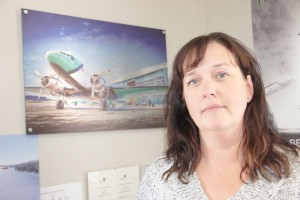 Paul Bickford/NNSL photo Kathy McBryan is the Hay River base manager and flight attendant manager with Buffalo Airways.