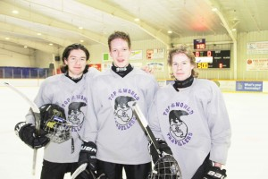 Paul Bickford/NNSL photo Three midget hockey players from Hay River – including Lochlan Munro, left, Dawson McMeekin and Tyrell Wilgosh – are going on a European tour with the NWT team.