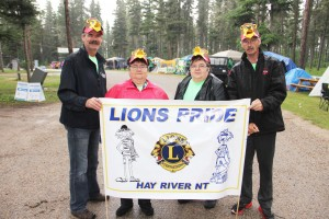 NNSL file photo In June 2013, a team from the Hay River Lions Club participated in the Relay for Life in Fort Smith. The team consisted of Ron Shaw, left, Pat Burnstad, Shari Burnstad and Jeff Ashby.