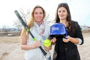 Heather Coakwell, left, and Kelsey Gill are co-chairs of the organizing committee for the Western Canadian Fastpitch Championships which is a men's event set for July in Hay River.