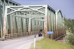 Paul Bickford/NNSL photo The Pine Point Bridge over the Hay River will be upgraded beginning in 2018.