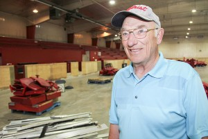 Paul Bickford/NNSL photo Ron Cook, a former recreation director with the Town of Hay River, looks around the arena on July 6 as it is being torn down.