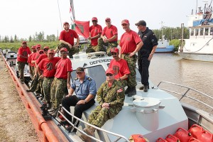 Diana Yeager/NNSL photo Canadian Rangers from Fort Smith, Fort Providence, Fort Simpson and Hay River took part in 17 days of training on Great Slave Lake and the Mackenzie River.