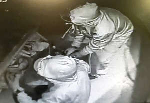 photos courtesy of the Hay River Golf Club Security cameras captured images of disguised intruders during two recent break-ins at the Hay River Golf Club.