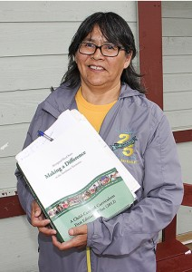 Rene Squirrel is the co-ordinator and teacher at Aboriginal Head Start at Chief Sunrise Education Centre on the Hay River Reserve.