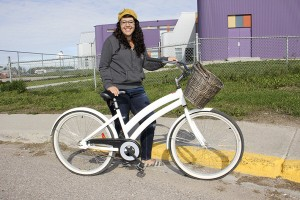 Paul Bickford/NNSL photo Marissa Oteiza is organizing World Car-Free Day in Hay River, and she also plans to participate on her bike.