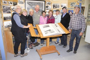 Paul Bickford/NNSL photo Members of a Friendship Force chapter visiting from Australia, and some Hay River hosts, visited the Hay River Heritage Centre on Sept. 10. They included, left to right, Ludmila Bischof, Janice Davis, Jill Youngblatt, Jim Larkin, Lorene Brown, Kerry Stevenson, and hosts Nancy Makepeace, Tom Makepeace and Richard Lafferty.