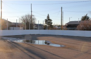 Paul Bickford/NNSL photo After recent renovations, the outdoor rink in 553 has a newer look.