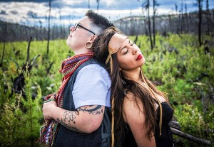photo courtesy of Northern Arts & Cultural Centre Yellowknife's Quantum Tangle – Grey Gritt, left, and Tiffany Ayalik – will appear in Hay River at the Ko K'e Music and Spoken Word Festival on Oct. 17.
