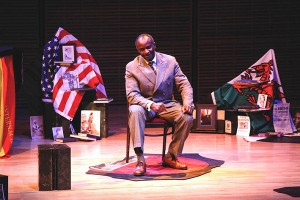photo courtesy of Northern Arts and Cultural Centre Tayo Aluko wrote and performs in the one-person play Call Mr. Robeson, which will be visiting Hay River on Nov. 14.