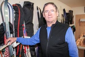 Paul Bickford/NNSL photo Doug Swallow, president of the Hay River Ski Club, has noticed later-arriving snow over the years.