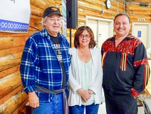 photo courtesy of Northwest Territory Metis Nation The new – and mostly unchanged – executive of the Northwest Territory Metis Nation consists of, left to right, Paul Harrington, secretary-treasurer; Betty Villebrun, vice-president; and Garry Bailey, president.