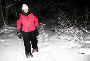 The Full Moon Snowshoe was organized by Dale Loutit, the recreation programmer with the Town of Hay River.