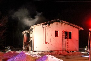 NNSL file photo A Feb. 15 fire in this house on the Hay River Reserve claimed the life of one person.