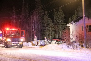Paul Bickford/NNSL photo Firefighters from the Hay River Fire Department responded to a Feb. 15 fatal house fire on the Hay River Reserve.