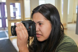 Kari Alexie competes in photography. Alexie is from Fort McPherson and a Grade 9 student at Paul William Kaeser High School in Fort Smith.